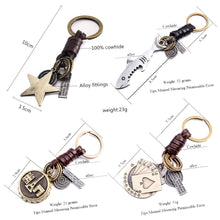 Multiple Guitar Butterfly Pendant Suspension Leather Keychain