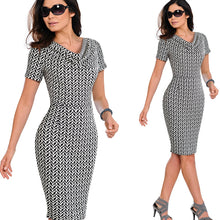 Women Elegant vestidos Business Party Bodycon Sheath Ruffle