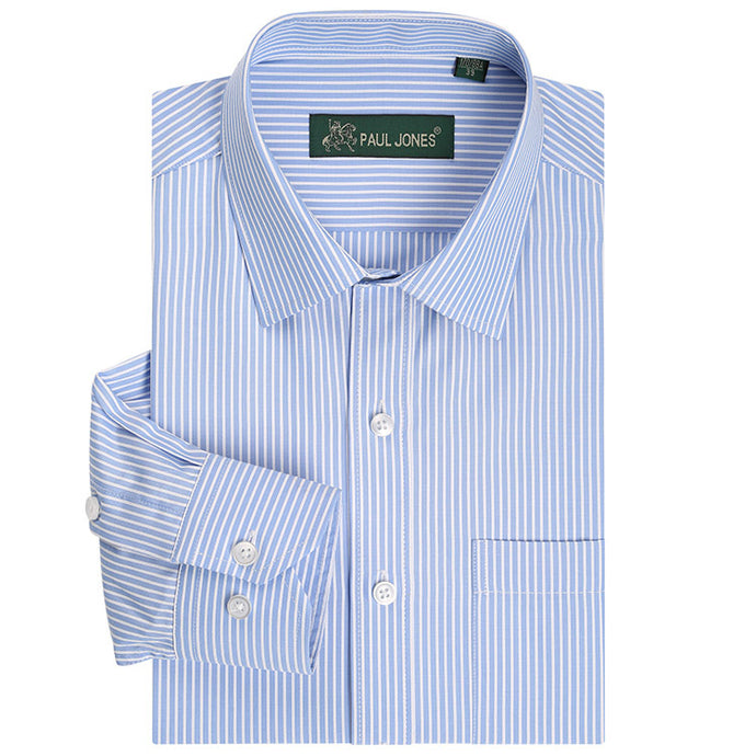 Classic Striped Men  Business Dress Shirts Long Sleeve