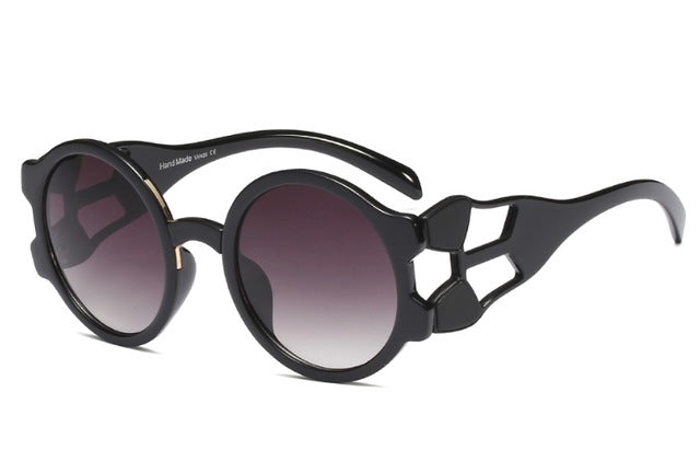 Retro Round Steampunk Sunglasses for Women