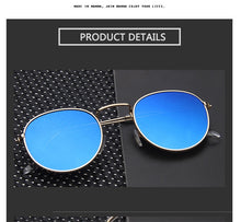 Metal Round Sunglasses For Men / Women Vintage Rainbow Color Brand Designer  UV400