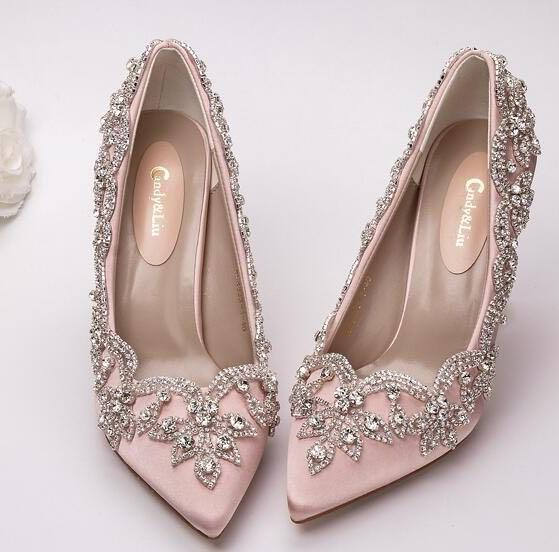 Bride Clear high Heels Crystal