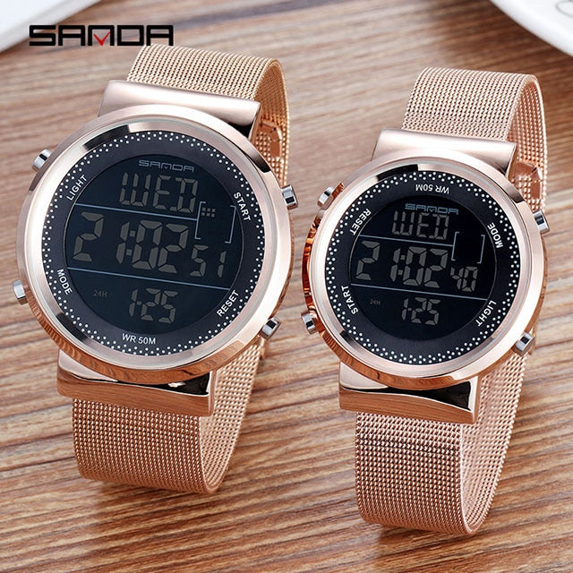 men women  Luxury Rose Gold  Watches
