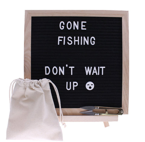 Black Felt Changeable Letter Board 340 Characters Including Symbols