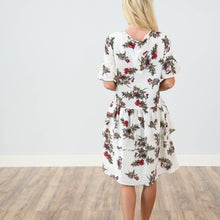 Rebeccah Printed Dress in Ivory