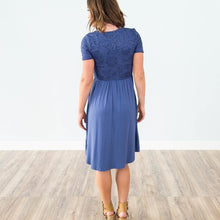 Vivian Dress in Dusty Blue