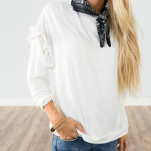 Milan Ruffle Top in Ivory