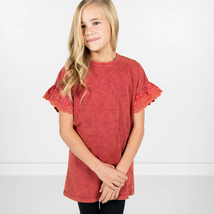 Tera Ruffle Sleeve Top