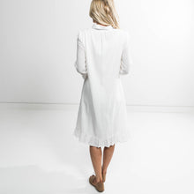 Esme Button Up Dress in Ivory