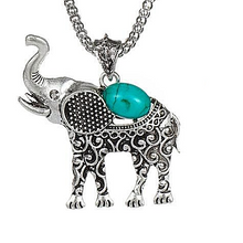 Boho Style Elephant Statement Jewellery Set Gifts for Women