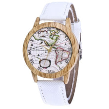 Wooden Vintage World Map Watch