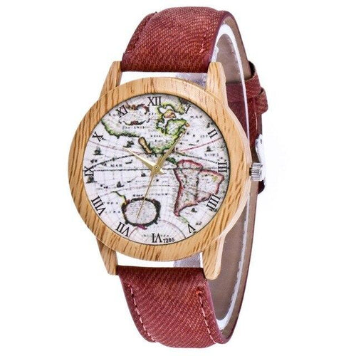 Vintage Gifts for Women - Unique Gifts for Women - Vintage fashion accessories -World map watch - vintage watch