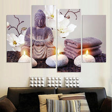 4 Piece Printed Buddha Canvas Wall Art Unique Home Decor Gifts