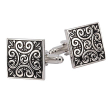 Exquisite Vintage Wave Pattern Cufflinks Unique Gifts for Men