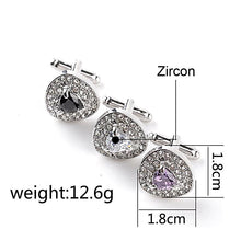 Luxury Crystal Zircon Cufflinks