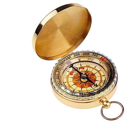 Classic Brass Pocket Compass Watch Style Gifts for Travelers
