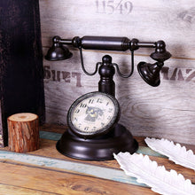 Vintage Quartz Telephone Desktop Clock