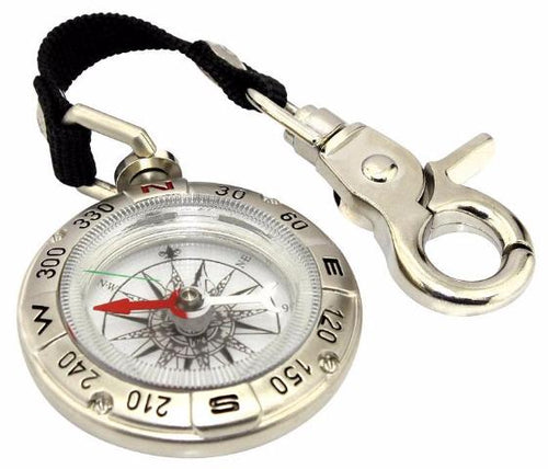 Multi-functional Mini Metal Keychain Compass