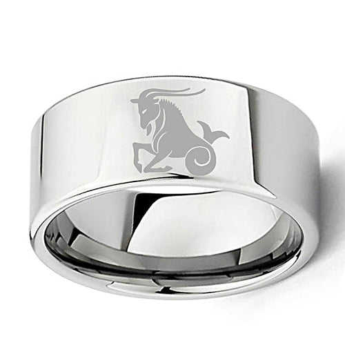 Tungsten Carbide Capricorn Zodiac Ring