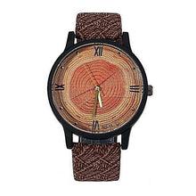 Vintage Wood Circles Casual Watch for Women Gifts for Women