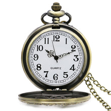 Vintage Bronze Steampunk Pocket Watch Necklace