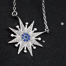 Sterling Silver Cubic Zirconia Sun Pendant Necklace  Unique Gifts for Women