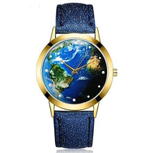Blue Planet World Map Watch for Women Gifts for Travelers