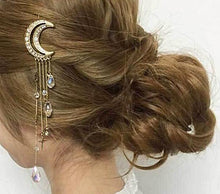 Crystal Moon Tassel Hair Stick Unique Gifts for Women