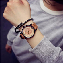 Vintage Wood Circles Casual Watch for Men