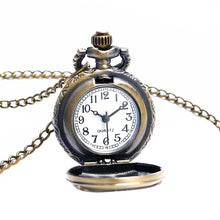 Bronze Vintage Flower Pocket Watch Necklace Unique Watches