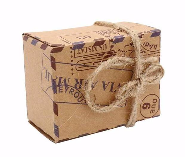 50pcs Vintage Travel Candy Box Wedding Party Favors