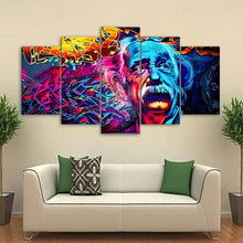 5 Piece Canvas Abstract Einstein Wall Art Unique Home Decor Gifts