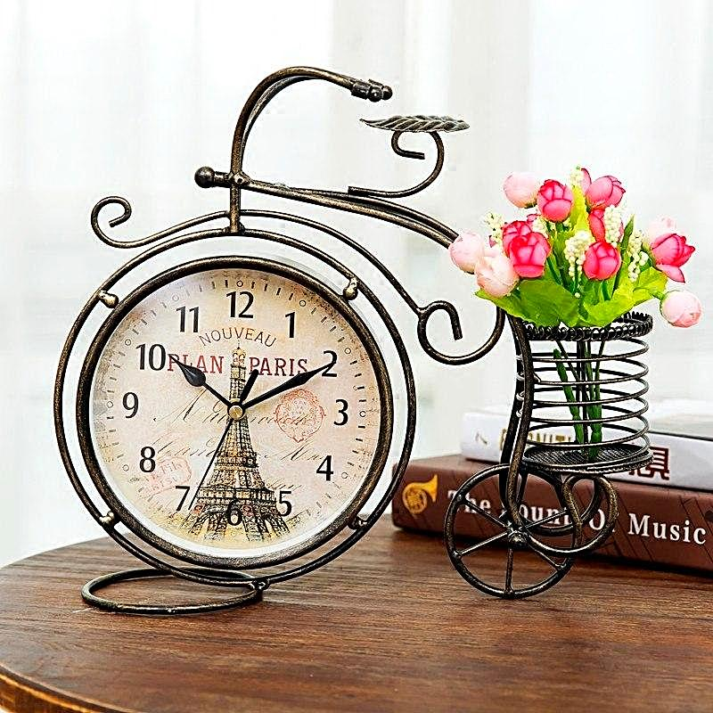 Vintage Tricycle Silent Table Clock Unique Home Decor Gifts Unique Gifts for Women Unique Gifts for Grandma