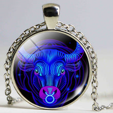 Stylish Glass Dome Zodiac Pendant Necklace