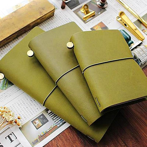 Handmade Vintage Leather Travel Journal, Notebook and Diary Gift Set Unique Gifts for Travelers