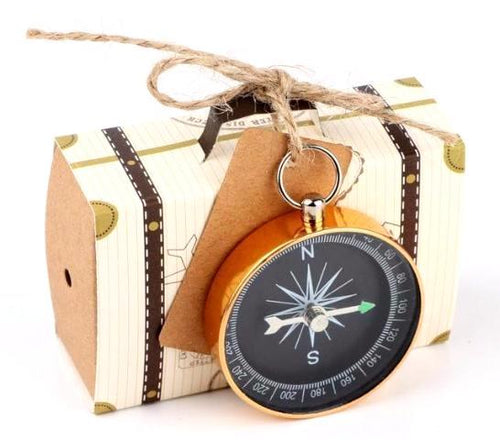 Luggage and Compass 50pcs Wedding Party Favors