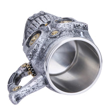 Stainless Steel Mechanical Gear Skull Mug Unique gifts for Brothers and Fathers