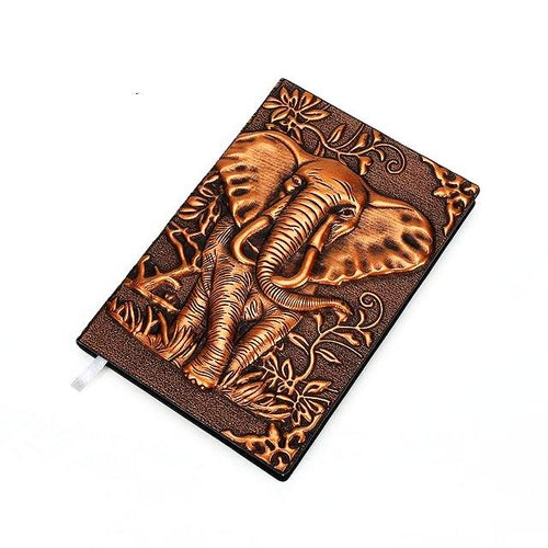 Vintage Embossed Elephant Travel Journal Unique Travel Gifts for Travelers and Animal Lovers