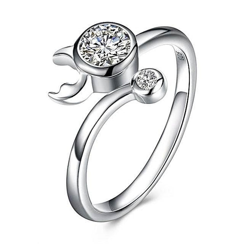 Sterling Silver Zodiac Ring for Women
