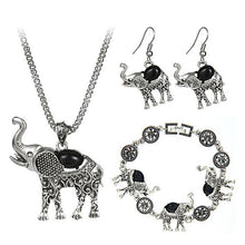 Boho Style Elephant Statement Jewelry Set