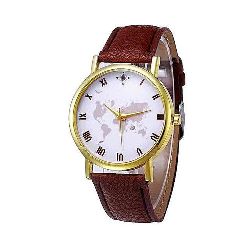 World Map Casual Watch for Women
