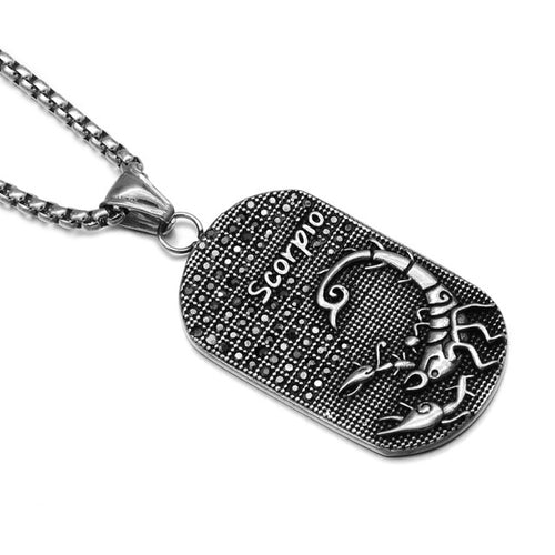 Titanium Stainless Steel Zodiac Signs Necklace for Men Unique Gifts for Men