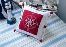 Anchor Pattern Nautical Style Cotton Stuffed Cushions Nautical Home Decor