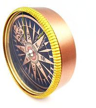 Brass Pocket Golden Navigation Compass Gifts for Travelers, Gifts for Grandad