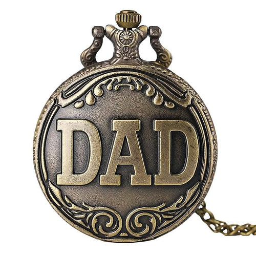 Father's Day Gift Vintage Dad Quartz Pocket Watch Necklace