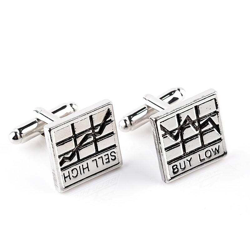 Novelty Stock Market Graph Cufflinks Unique Gifts for Men