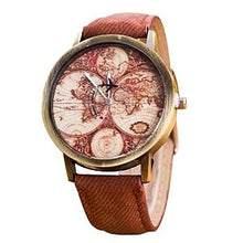 Vintage Travel World Map Watch Unisex Gifts for Travelers