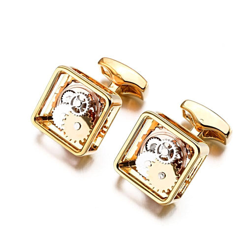 Unique Square Steampunk Cufflinks Unique Gifts for Men