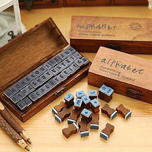 Vintage Wooden Handwriting Alphabet Rubber Stamp Set Unique Gifts