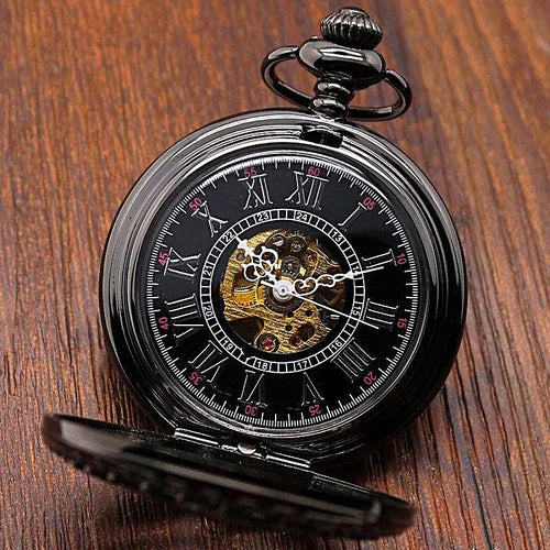 Luxury Pocket Watch Necklace Gift Set Unique Watches Fob Watches